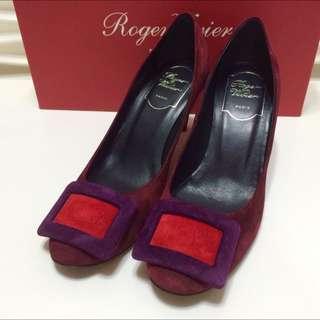 Roger Vivier麂皮高跟鞋近全新