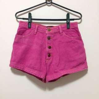 手手市集✨oversize古著粉紅牛仔短褲