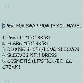 LIMITED TIME SWAP OFFER