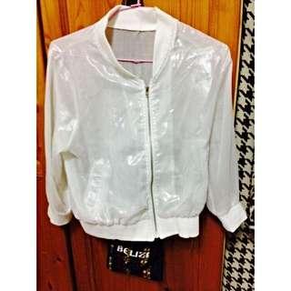 [二手]白色透明小外套
