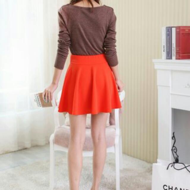 太陽裙(橘紅)