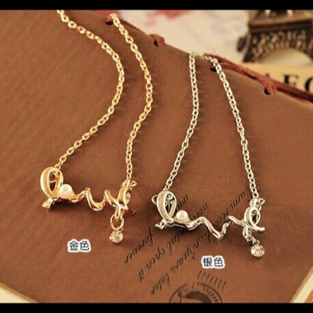 珍珠love 鎖骨鍊