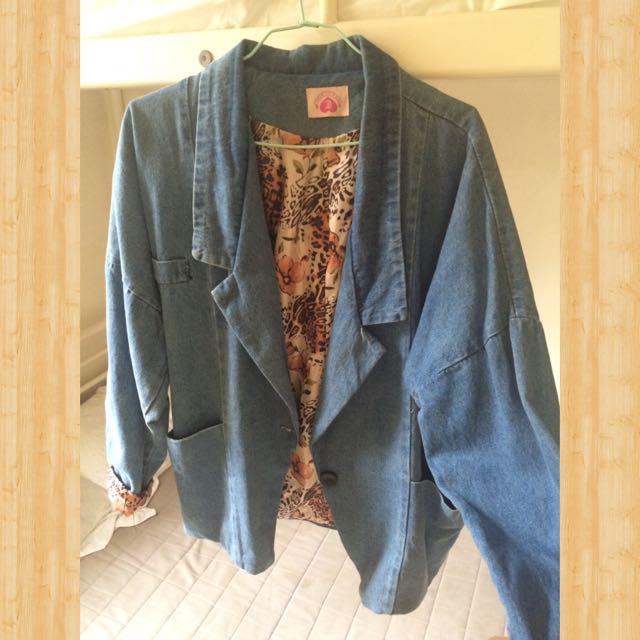 復古西裝外套