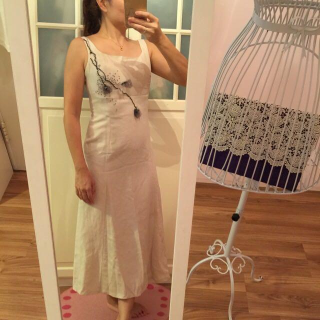 棉麻長洋裝