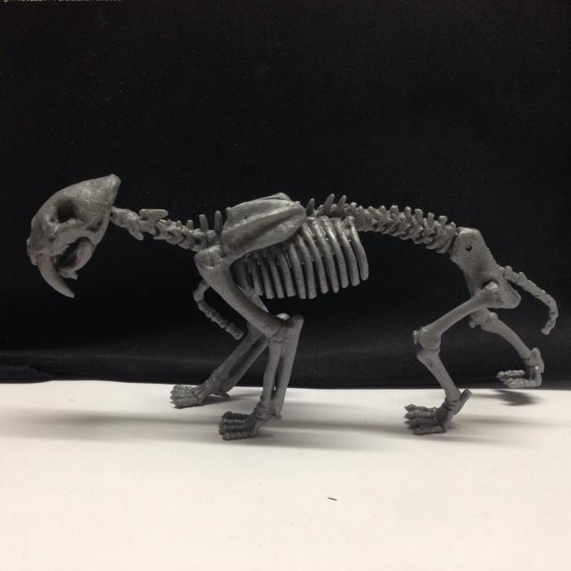 冰河時期 劍齒虎 骨頭模型 扭蛋 絕版好物