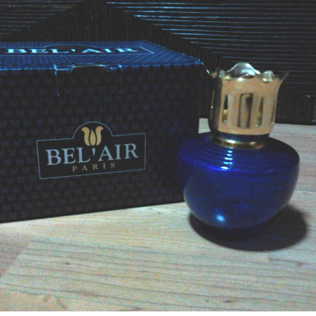 ... Authentic Short Clear Blue Bel-Air Aromatherapy Oil Lamp Diffuser W/O  Essential Oil ...