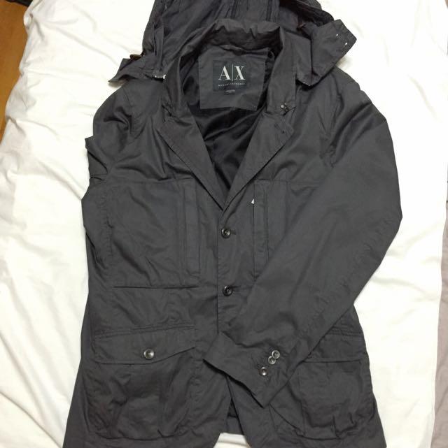 AX西裝式風衣(風帽可拆)