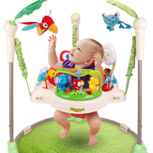 943306fa0 Fisher Price Rainforest Jumperoo Baby Jumper Walker Bouncer Activity ...