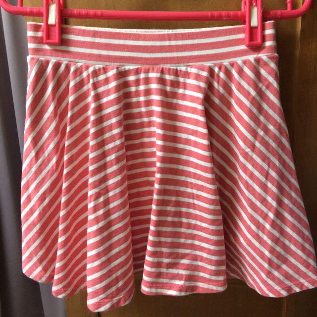 Lativ 條紋 短裙