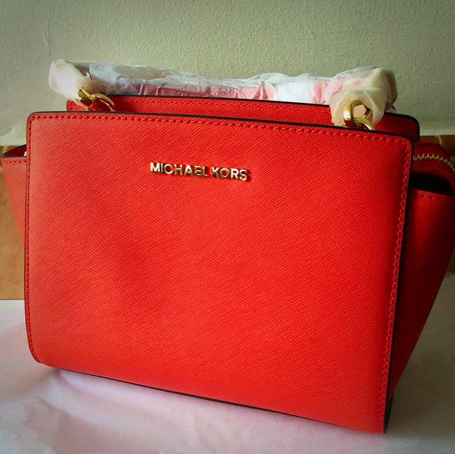 d47539556c4db4 New Authentic MK Michael Kors Selma Medium Saffiano Leather ...