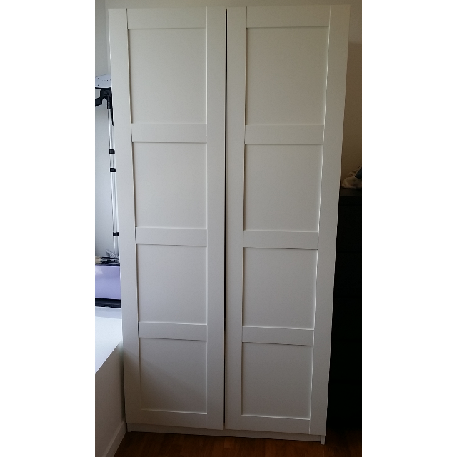 Wardrobe Closet Bergsbo White Furniture On Carousell