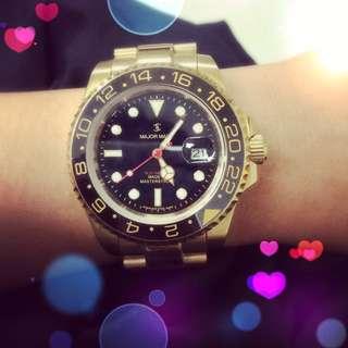 Major 翻玩款 絕版金錶