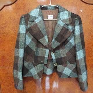 含運🔹挺版復古格紋外套