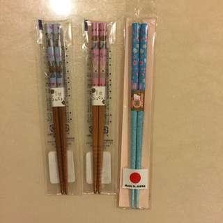 全新💕日本帶回筷子💕單組60元