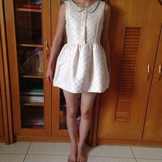 無袖小花短洋裝-代售