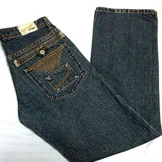 Penshoppe Straight Cut Dark Gray Denim Pants Size 29