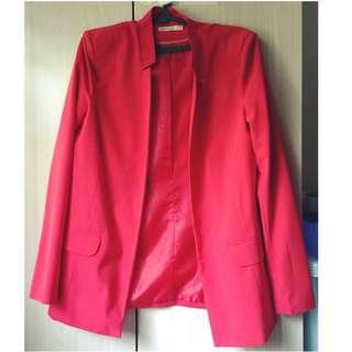 Stradivarius Women's Red Jacket (M)