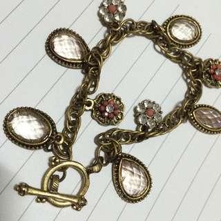 小花 🌺 寶石 💎 復古手鍊