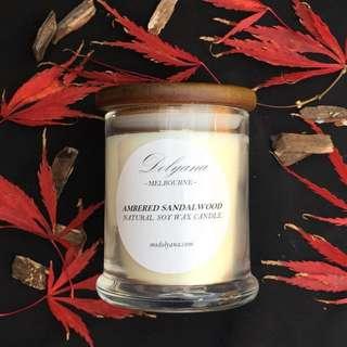 Dolyana Soy Candle - Ambered Sandalwood