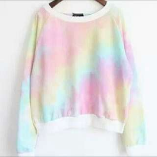 Cotton Candy Rainbow Tie Dye Sweater