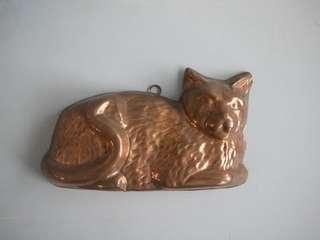 古老英國黃銅 貓咪造型 廚房掛飾