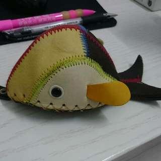 手工魚造型零錢包