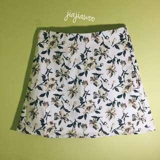 韓版顯瘦碎花高腰窄裙