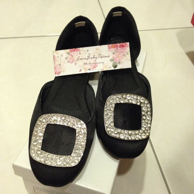 Lovebabytwins黑色平底鞋40號✨
