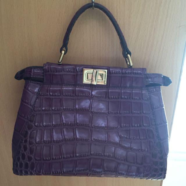 紫色手提小包