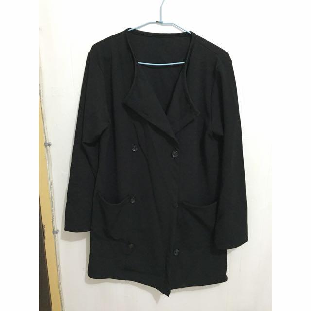 排釦長版外衣