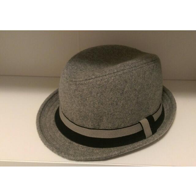 🎩灰色毛呢紳士帽🎩