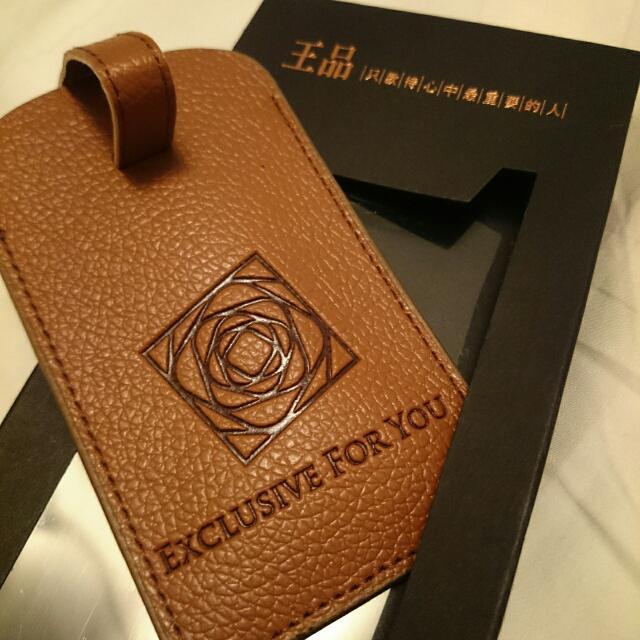 💰免費💰   王品集團 咖啡色皮革行李吊牌