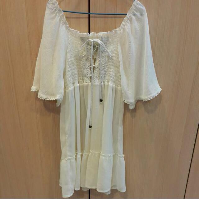 全新日本製 波希米亞風 綁帶 度假洋裝