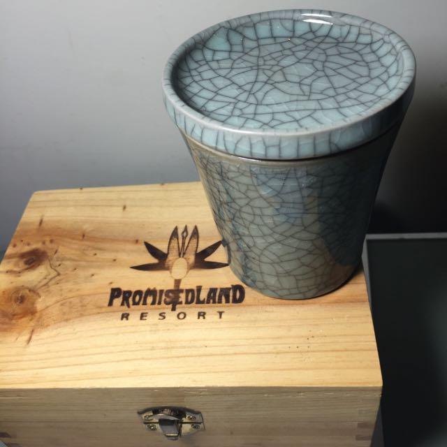 全新 哥窯冰裂哥窯瓷杯 理想大地 伴手禮 保證真品