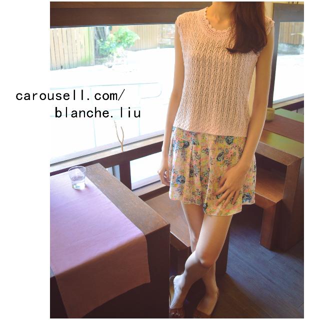 【F 免運】韓 夏天出遊必備 高腰雪紡褲裙 日系碎花色 瘦腿百搭 修飾臀部