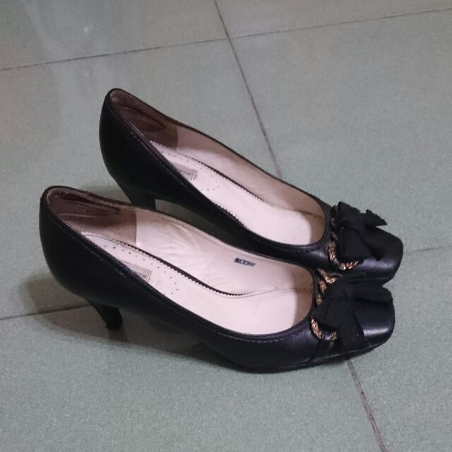 二手 pura bianca 黑色七公分 高跟鞋
