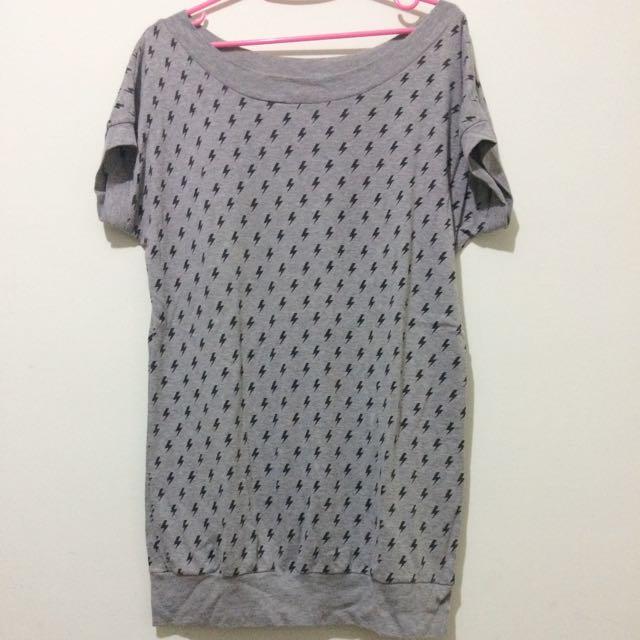 滿滿閃電長版 T-shirt