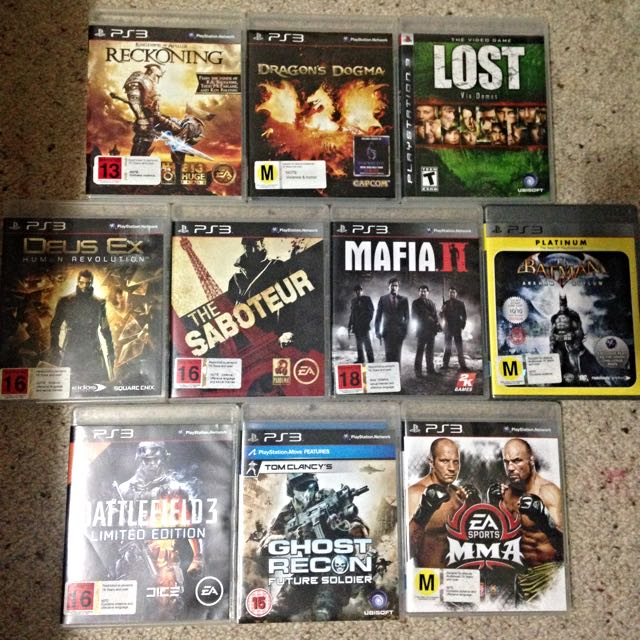 BULK PS3 Games (Seperate Sales)