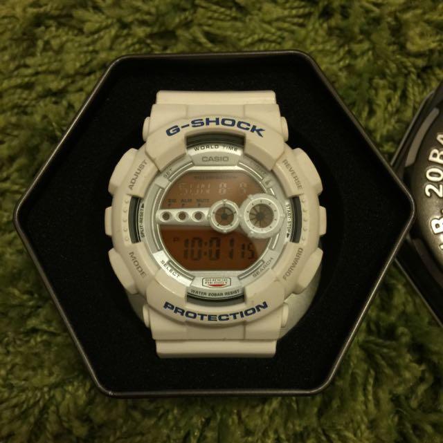 正品G-Shock 白藍配色