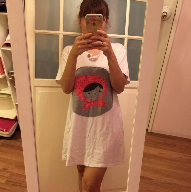 可愛長T洋裝