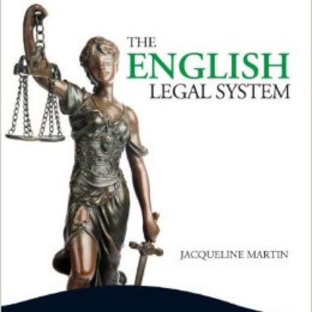 The English Legal System Textbook 7th Edition