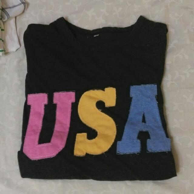USA短 t