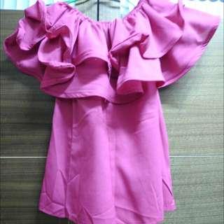 (全新)桃紅色上衣