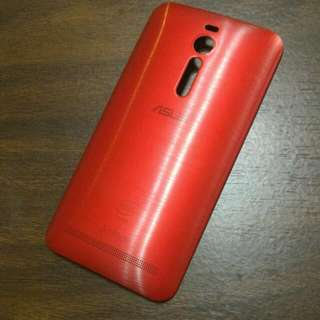 Asus ZenFone 2 5.5吋 原廠背殼 紅色 不含手機 送透明保護套