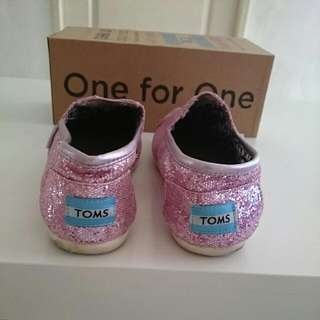 *REDUCED* Toms Shoes Classics Pink Glitter In Box