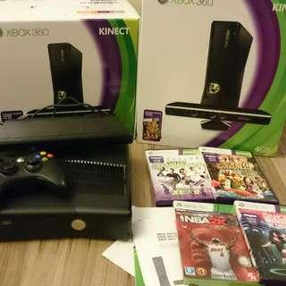 二手 XBox360 Kinect 包裝完整 含四片遊戲 超值組合