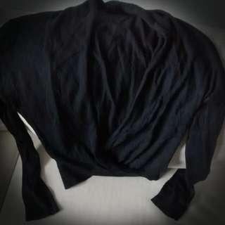 Open Front Asymmetric Sweater