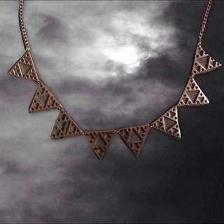 ♡復古 幾何三角 長項鍊 含運