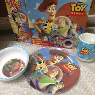 Toy Story Plate Bowl Cup Set