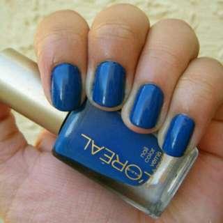 ▲巴黎萊雅L'OREAL指甲油(土耳其藍)
